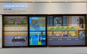 互动滑轨屏的应用丨万科品牌馆 西安展览公司