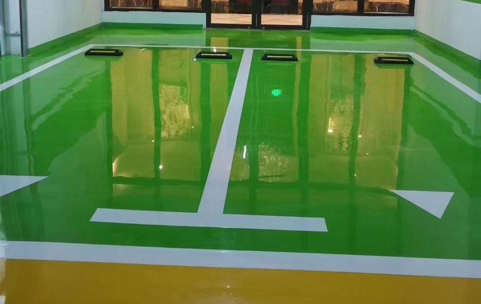 浅析成都停车场地坪漆施工环氧树脂地坪漆与混凝土粘合不牢的原因
