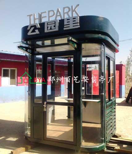 怎么去设置郑州不锈钢岗亭的基础施工线呢