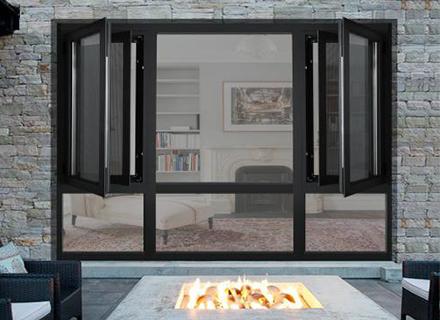 铝合金门窗——100平开窗纱一体