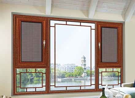 铝合金门窗——85平开窗纱一体