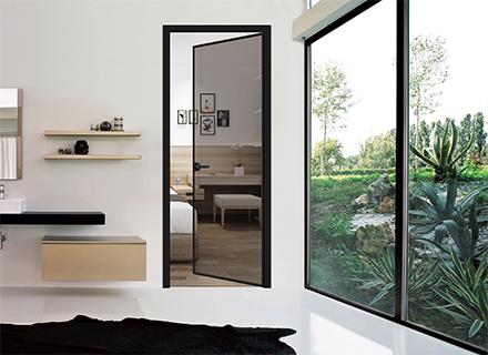 铝合金门窗——极窄平开门