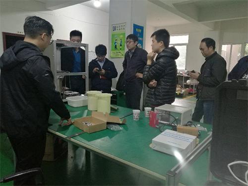 中国广核(久源)领导一行关于氚气在线监测仪 莅临我司考察指导工作