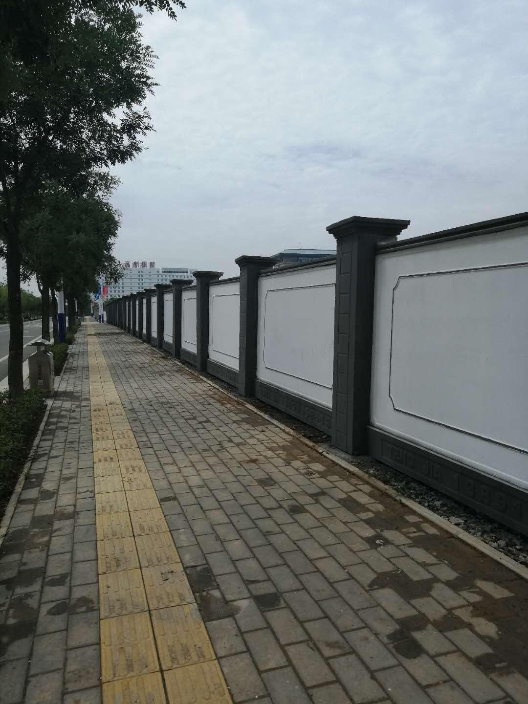 陕西工程围墙案例-蒲城国际酒店二期