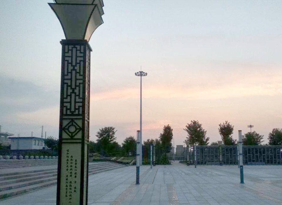 渭南西站景观亮化