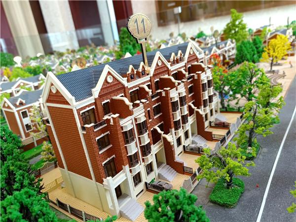 单体双拼别墅房产模型沙盘制作
