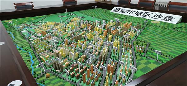 昌吉市城区沙盘模型案例展示