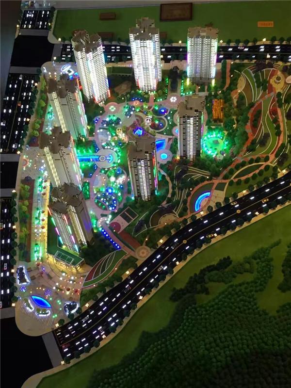 新疆房产沙盘模型道路环境
