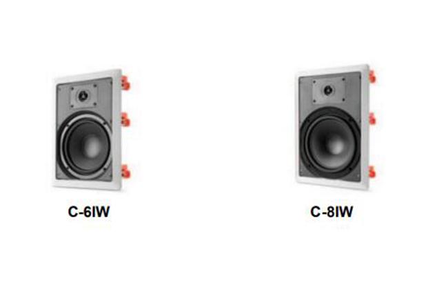 美國JBL C-SERIES吸頂式、入墻式揚聲器: C-6IW/C-8IW