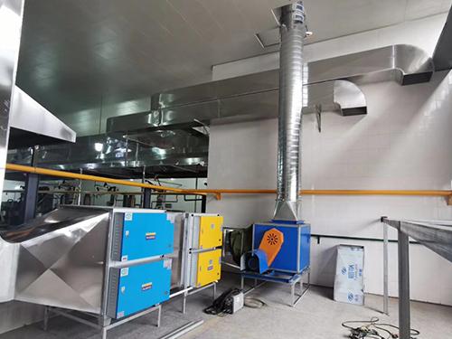 成都油烟净化通风设备安装成功案例