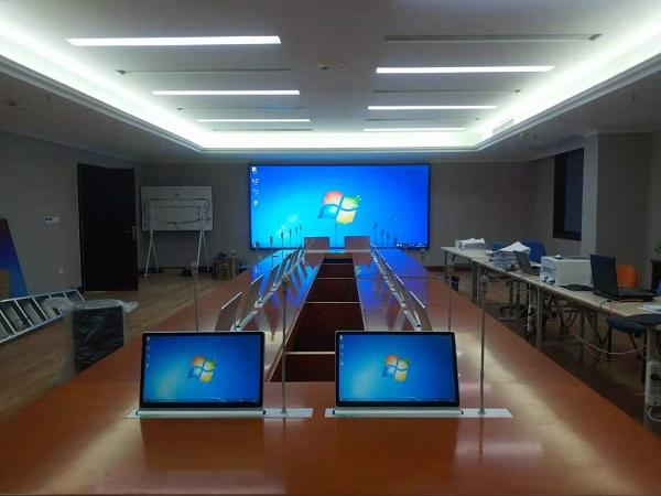 简阳市人民医院行政楼LED显示屏+无纸化会议设备