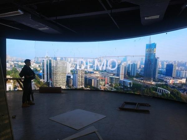 重庆长安集团工业展厅显示屏