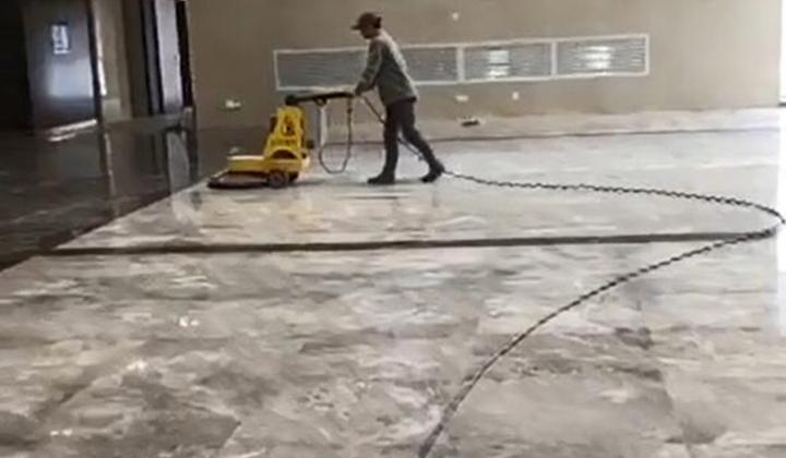 商场地面石材保养
