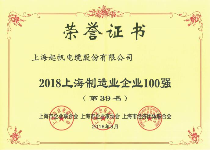 上海制造业企业100强