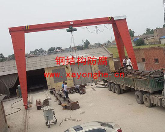 西安钢结构防腐施工现场