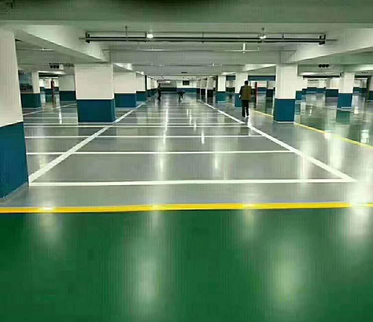 地下停车场水性环氧地坪案例