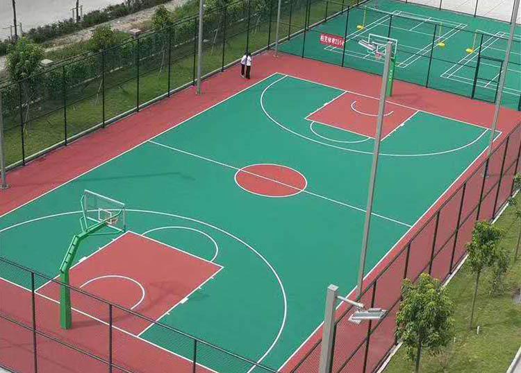 济南塑胶篮球场施工流程