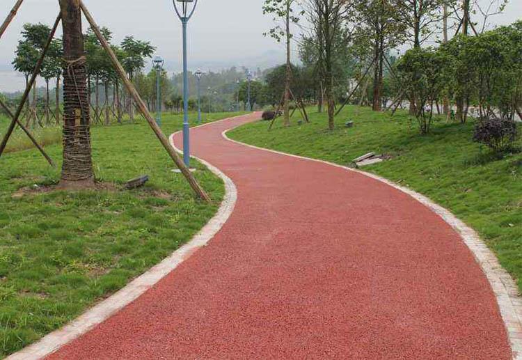 公园塑胶路径
