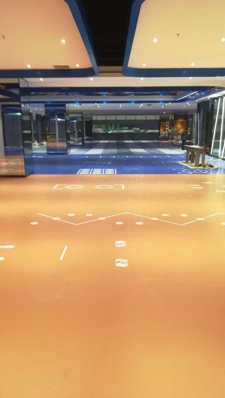 商场大厅塑胶地板铺装案例