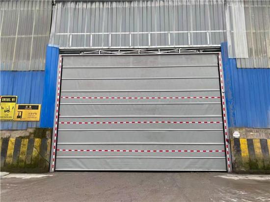 水泥公司四川快速堆积门安装实例
