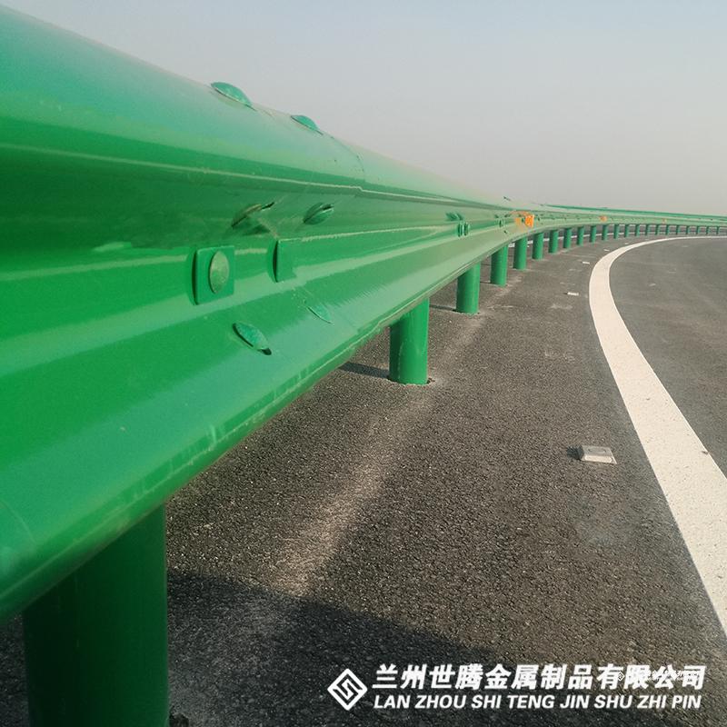 公路三波喷塑护栏板