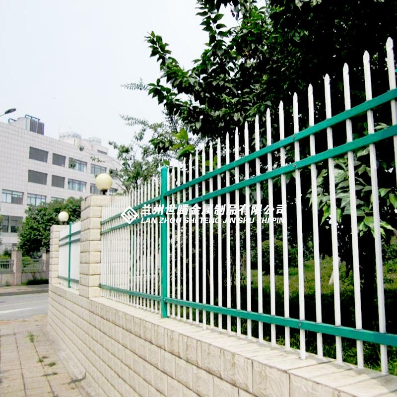 蓝白锌钢护栏