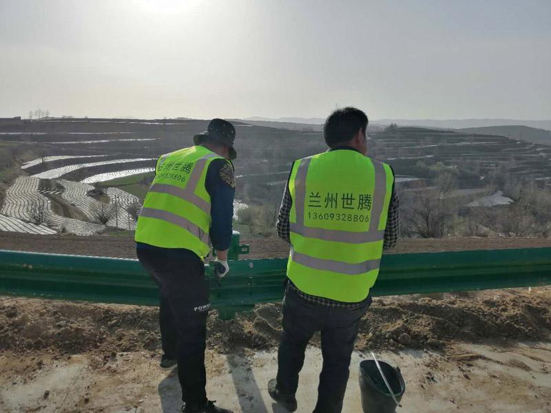 临夏广河县乡村道路波形护栏安装