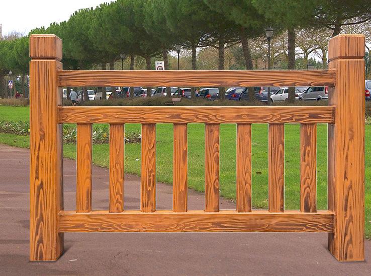 波形木纹护栏