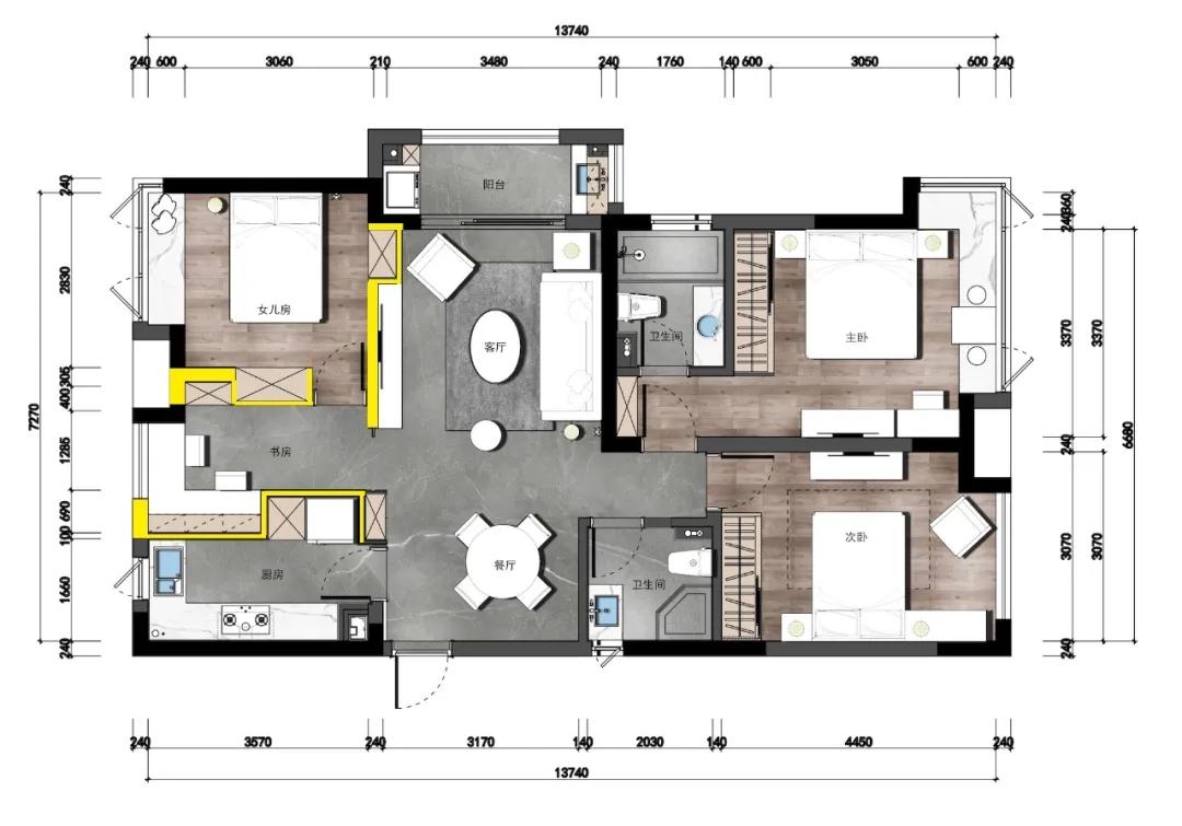 装饰设计中的三项空间重建技巧