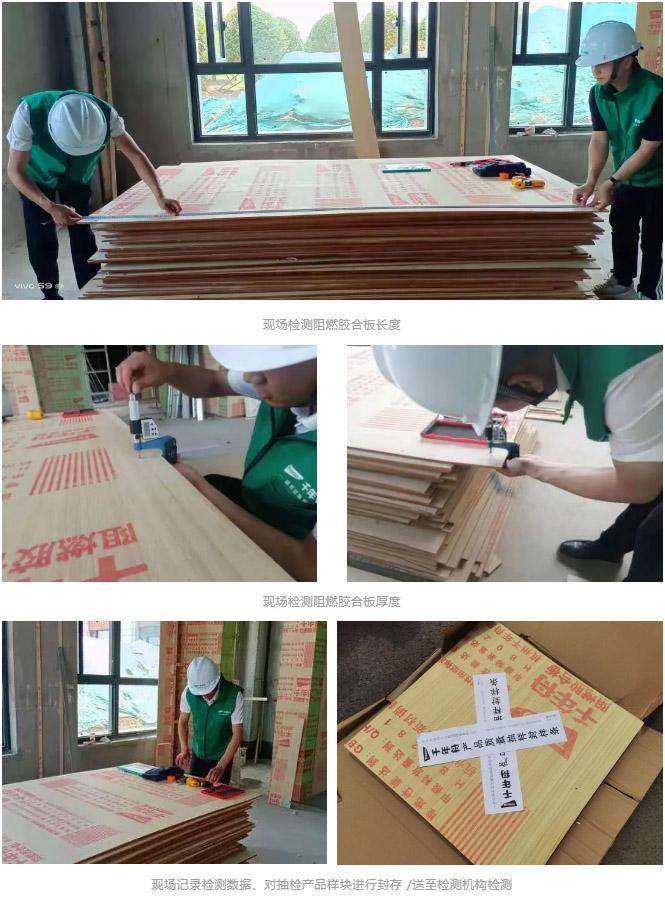 千年舟绿色工程行丨阻燃胶合板检测进行时