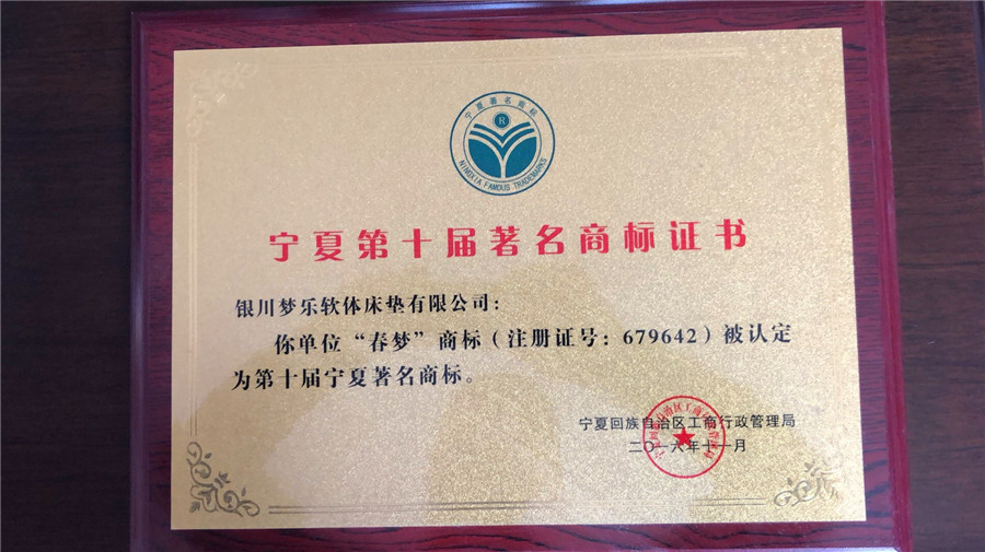 宁夏第十届商标证