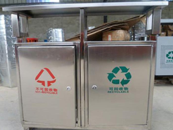 不锈钢垃圾分类箱图片展示