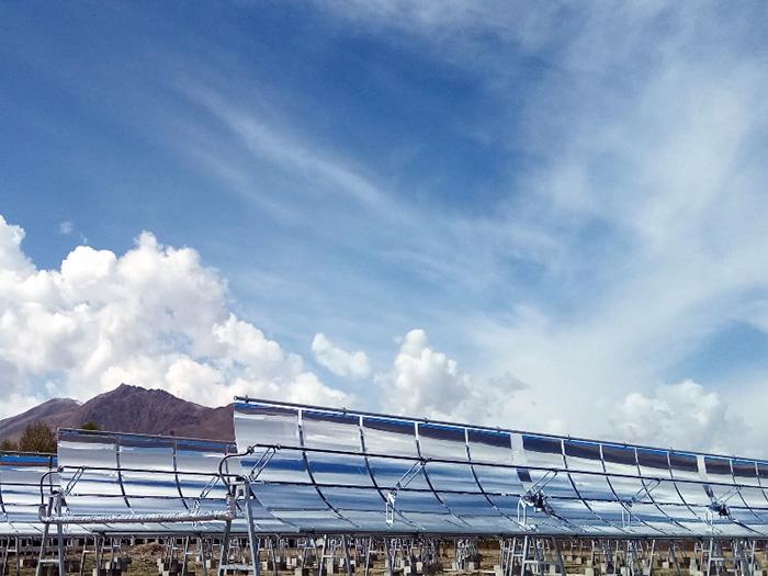 西藏達孜槽式太陽能農業溫室供熱項目