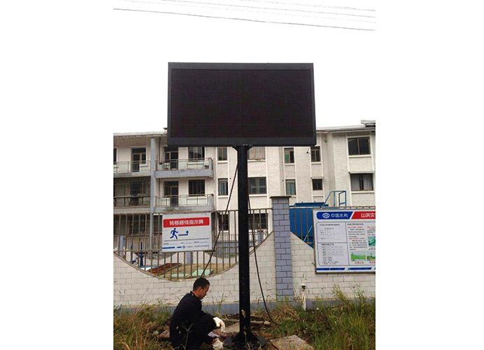 庐山单色立柱屏显示屏安装案例
