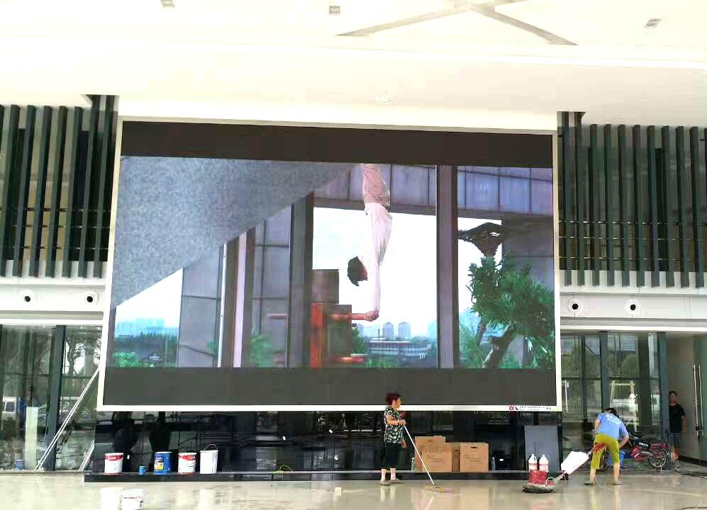 眉山LED显示屏安装案例-眉山青龙会展中心