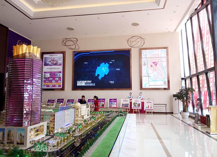 乐山售楼部P4全彩LED显示屏安装案例