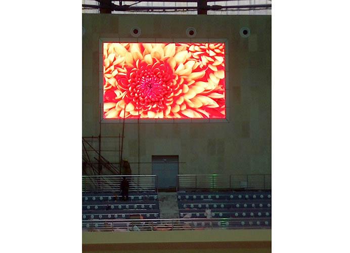 天全体育场屏P5全彩显示屏安装案例