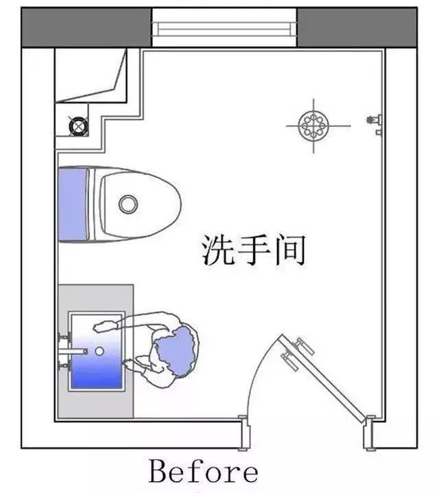 4.5㎡的小衛生間就是這樣設計的,一家人同時使用也不擁擠!