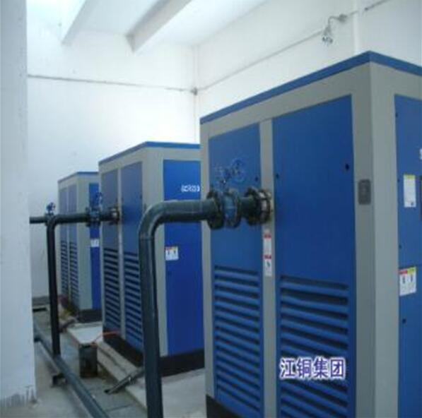 江铜集团使用我司专业空压机设备投入生产