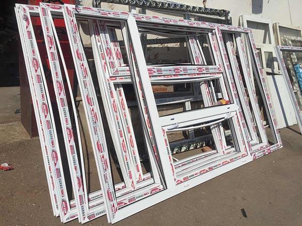 张家口某工地订购的塑钢门窗