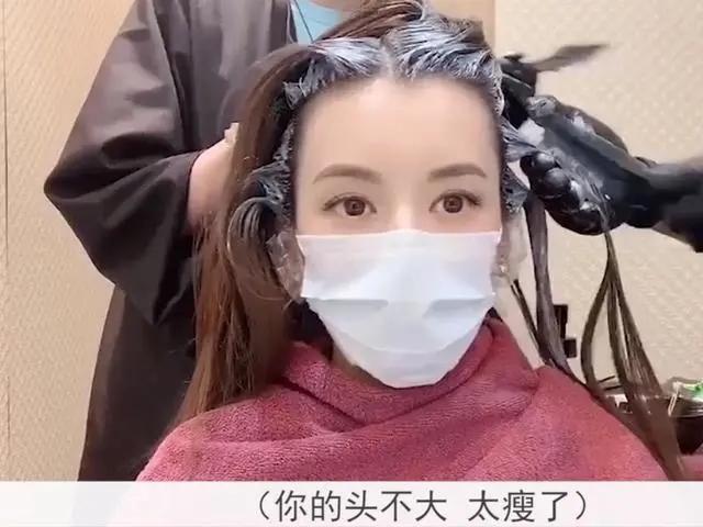 组图:方媛接女儿放学前抽空染头发 自曝体重只有85斤