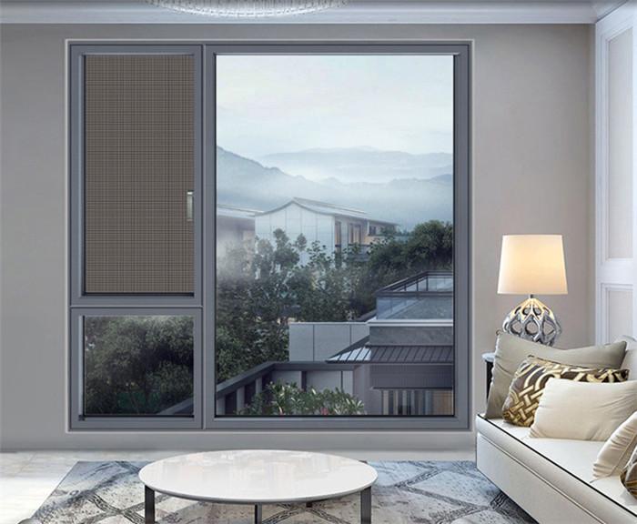 张家口断桥铝门窗 窗纱一体封阳台隔音隔热断桥铝平开窗定制