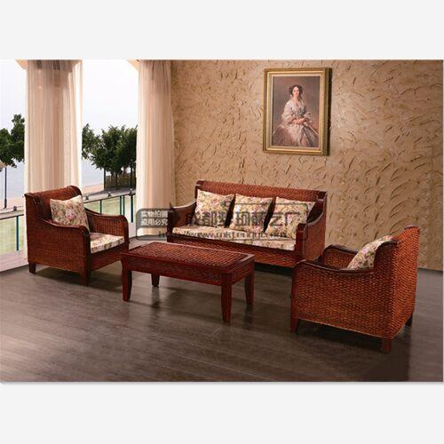 A-027 富丽豪新中式藤木沙发