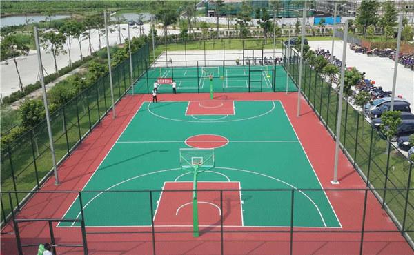 陕西某师范大学 硅PU篮球场