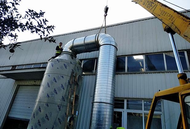 成都废气处理工程案例:漆雾净化-喷淋塔