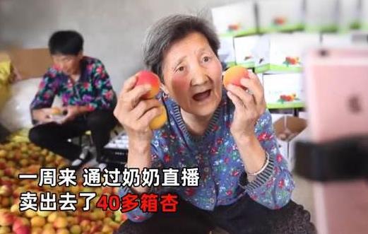 西安80岁奶奶直播带货一周卖杏40箱