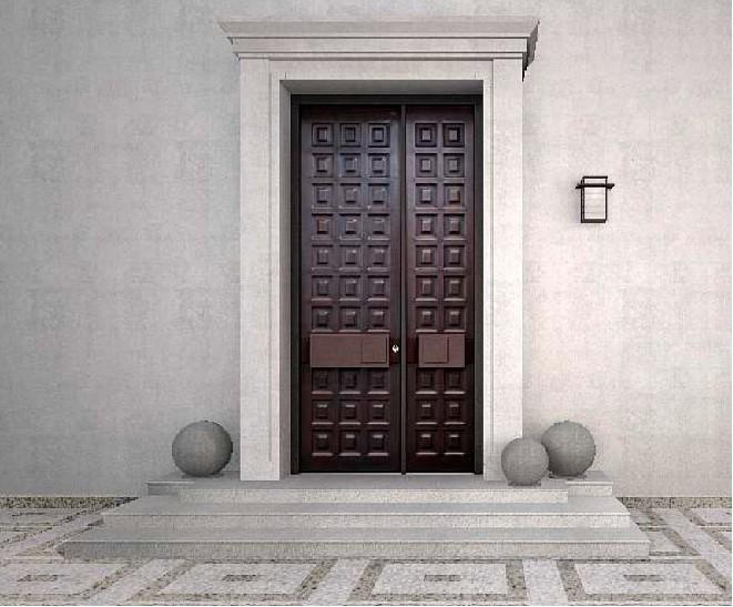 高档铜木装甲门