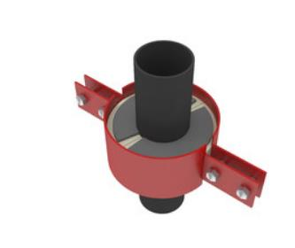 单向固定立管绝热支架