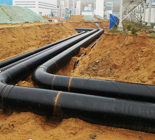 锦隆建筑与汇能化工合作管道工程案例