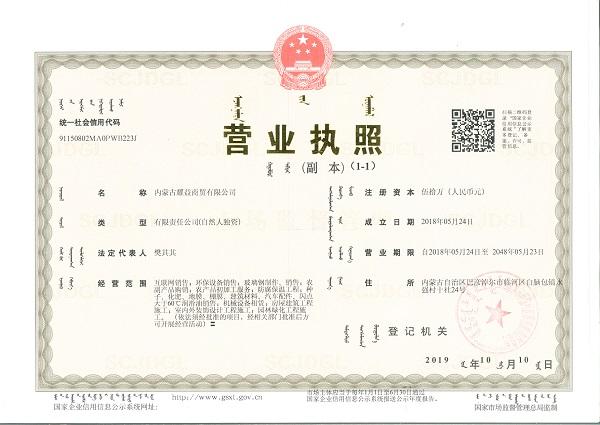内蒙古耀益商贸有限公司